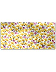 Graphical Blooms Rectangle Tablecloth Large Dining Room Kitchen Woven Polyester Custom Print