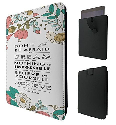 271 - Shabby Chic Floral Christian Quote Don't Be Afraid To Dream Too Big For All Amazon Kindle Fire 8