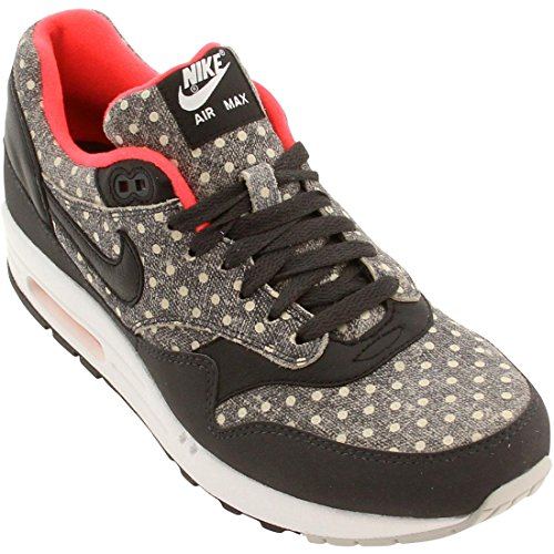 Nike - Air Max 1 Leather Premium Polka Dot Pack - Color: Blanco-Gris-Negro - Size: 46.0