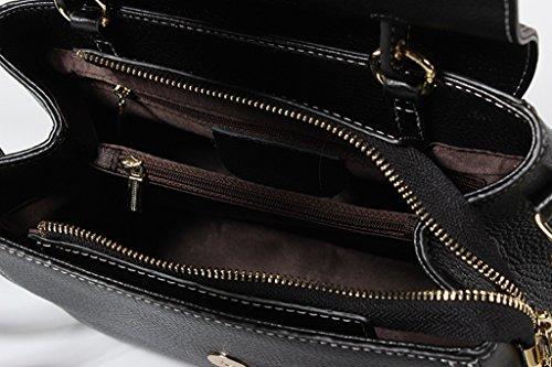viaje de Ideal RFID Genuino Genuina bolsos Gran Hecho para trabajo Mano Capacidad 3 y hombro Cuero 4 Bloqueo Mujer Sucastle a Ux6q4Ex
