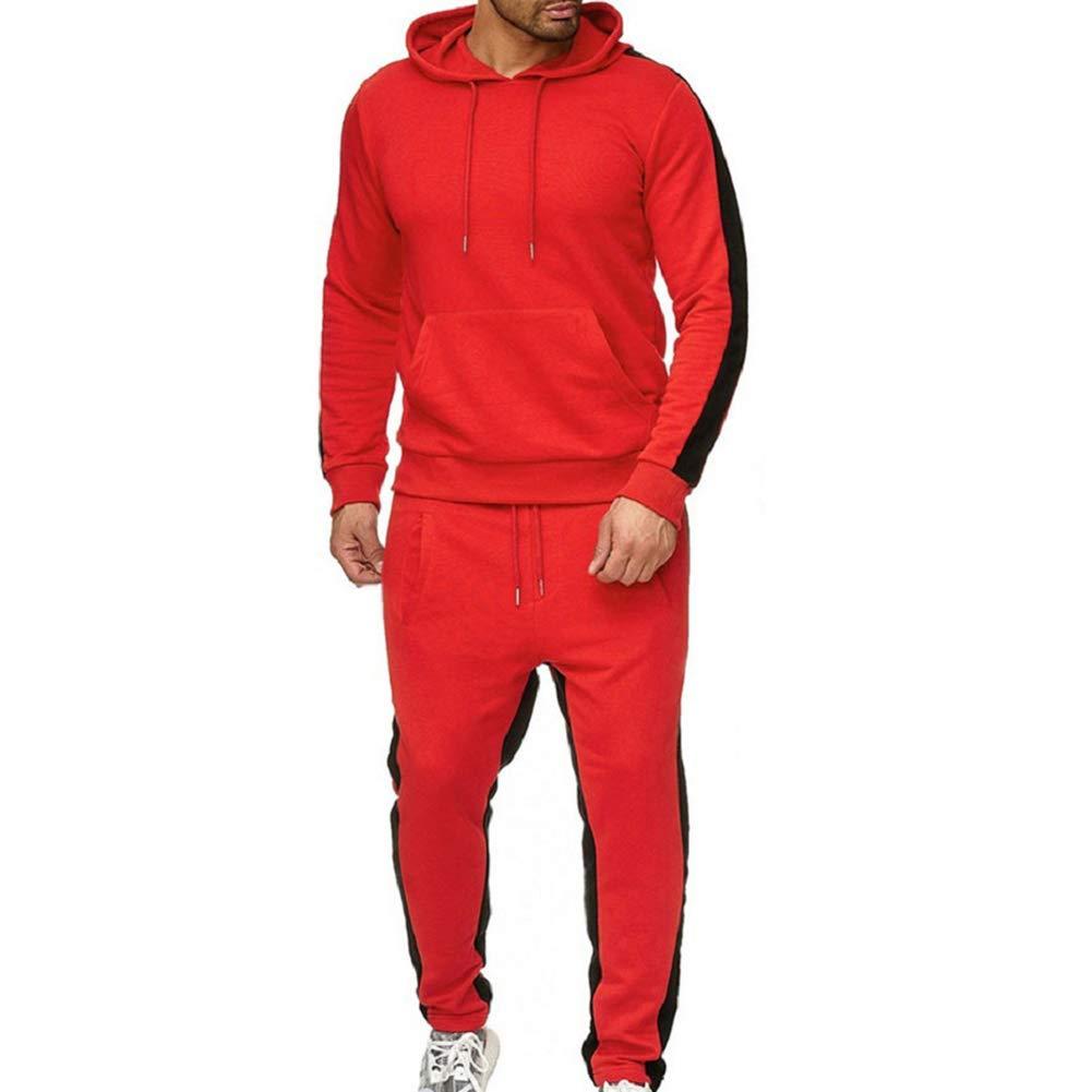 Yellow Size L LeerKing Mens Tracksuit Joggers Fleece Hoodie Sweatshirt Pants Set