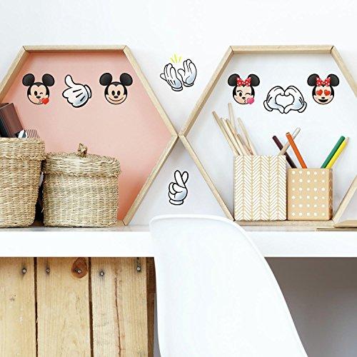RoomMates Disney Mickey And Minnie Texting Emoji Peel And Stick Wall Decasl