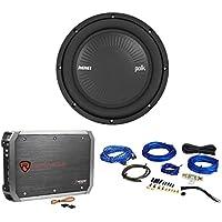 "Polk Audio MM1042SVC 10"" 1200 Watt SVC Car Audio Subwoofer+Amplifier+Amp Kit"