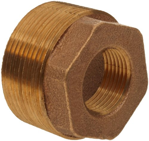 (Brass Pipe Fitting, Class 125, Hex Bushing, 1-1/2