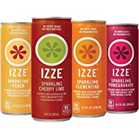 24 Pack IZZE 4 Flavor Sparkling Sunset Pack, 8.4 oz Cans