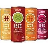 #10: IZZE Sparkling Juice, 4 Flavor Sparkling Sunset Variety Pack, 8.4 oz Cans, 24 Count
