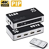 4 x 1 HDMI Switch, ZAMO 4K X 2K 4 In 1 Out 4port HDMI Switcher with PIP( Picture in Picture) and IR Wireless Remote Control, Support Ultra HD 4K X2K, 3D &1080P HDMI Switch