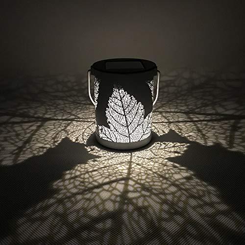 Nesee LED String Light, Leaf Print Solar Garden Light Waterproof Portable Garden Decoration Wind Lamp Night Lamp Garden Lawn Light -