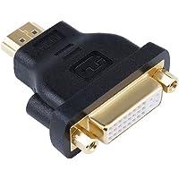 DTECH DVI Female to HDMI Male Adapter Bi-Directional DVI 24+5 Port Converter