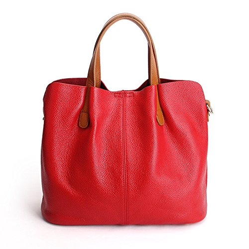 Mother Bag Handbags Red Large Bag Leather Capacity Detachable Teacher�� UqRxWAxw1g