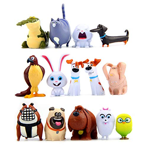 14 Pcs Secret Life of Pets Movie Toy Figures Collection Gift Cupake Toppers Party Supplies Birthday from TOYFORU