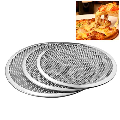 Pizza Tools - 6 7 8 9 10 11 12 13 16 Inch Pizza Pan Aluminum Thicken Non Stick Net Round Mesh Baking Tray - Dough Fathead Shovel Bakeware Tools Accessories