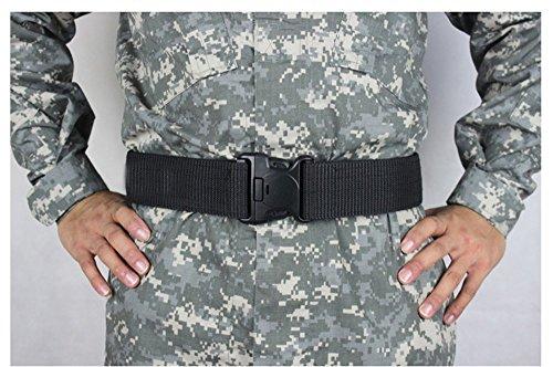55mm Rescue No Metal Negro Nylon Ajustable Duty para Alaix Hombres Tactical Belt 41qw7XXd