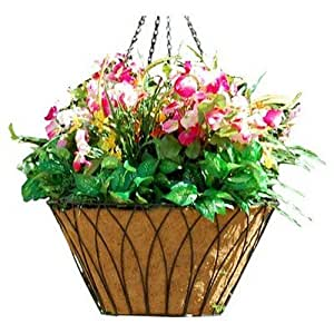 Griffith Creek Designs 11114 Nelumbo Hanging Planter 14 pulgadas Negro