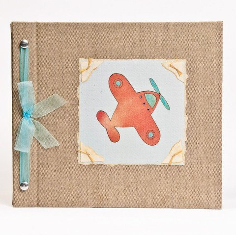 Hugs and Kisses XO Baby Memory Book: AIRPLANE Boy Baby Album from Birth to 5 Years