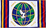 Flag World Peace 3 Foot by 5 Foot Polyester (New)