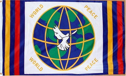 World Peace Flag - 3 foot by 5 foot Polyester (World Flag)