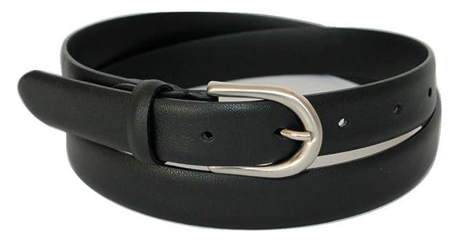 super popolare 37e84 9a7e8 ITALOITALY Cintura in Vera Pelle, Nera, Donna, Alta 2,5cm, Produzione  Artigianale, Made in Italy, Accorciabile