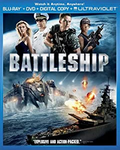 Cover Image for 'Battleship (Two-Disc Combo Pack: Blu-ray + DVD + Digital Copy + UltraViolet)'