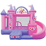 : Disney Princess Castle Tower Slide, Bouncer, and Ball Pit