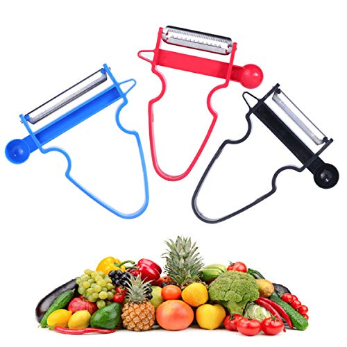 3pcs Peeler Magic Trio Peelers Set of 3 for Fruit & Vegetable Stainless Steel Easy Peel Shred Slice BPA Free (Shipping from US) 3-5 DAYS