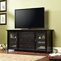 Sauder 415321 Estate Black Finish Edge Water Credenza