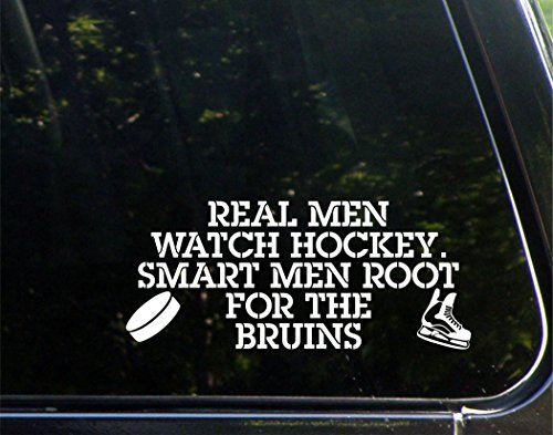 Real Men Watch Hockey Smart Men Root For The Bruins - 8-3/4