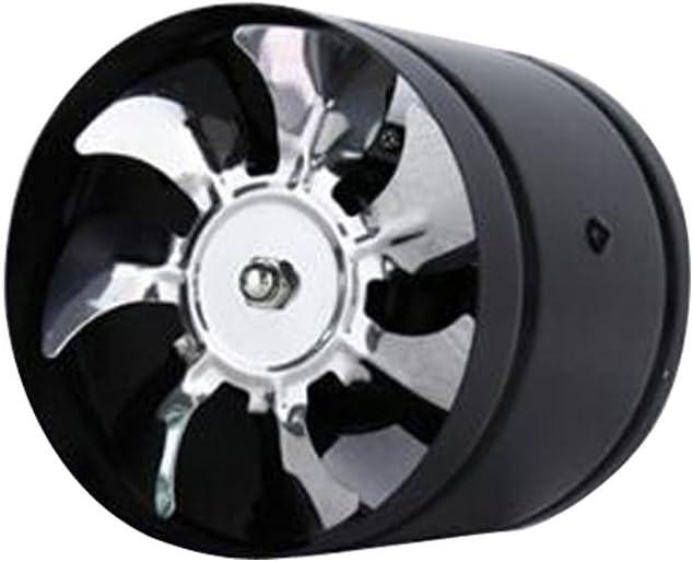 6 Zoll 40W Badlüfter Wandlüfter Deckenlüfter Rohrlüfter Ventilator zur Fenster Wand Montage - Schwarz Schwarz