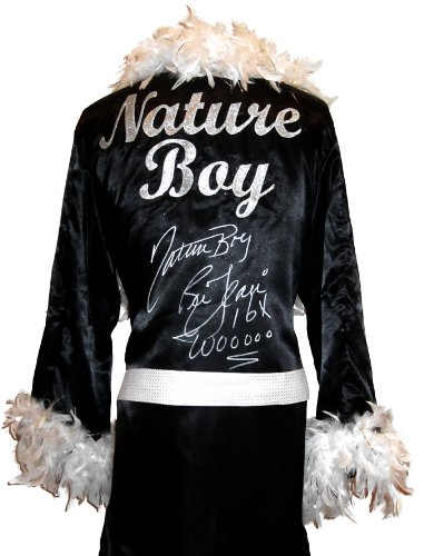 Ric Flair Signed Black Robe & White Feathers