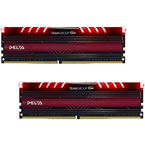 Team Group Delta Red 16GB 8GBx2 DDR4 2400MHz módulo de Memoria 16 GB 2 x 8 GB DDR4 2400 MHz 288 pin DIMM Rojo