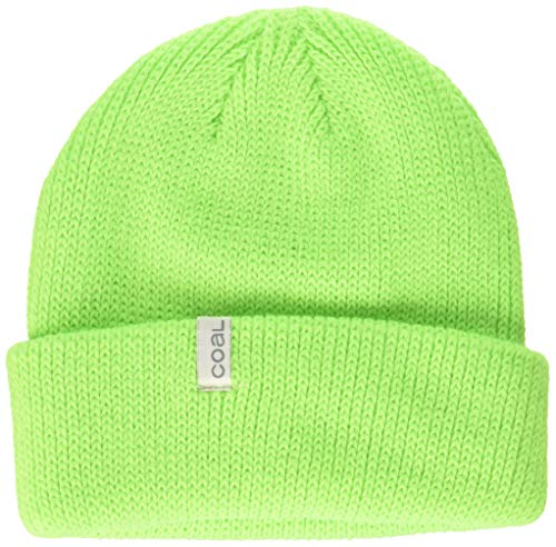 Coal Men's The The Frena Fine Knit Beanie Hat, neon Green, Slouchy/Low Profile