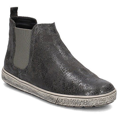 Caprice Damen Chelsea Boots Leder Grey Suede Gr 38
