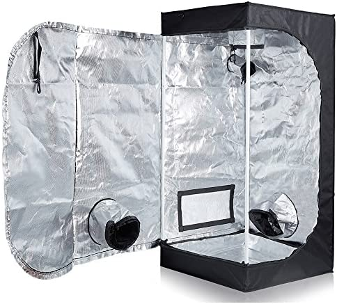 TopoLite Full Range Multiple Sized 24 x24 x48 Indoor Grow Tent Room 600D Mylar Hydroponic Growing Plant w Plastic Corner 24 X24 x48
