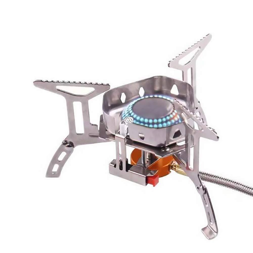Nai-Style Cocina de c/ámping Gas con Encendido piezoel/éctrico cocinar al Aire Libre Plegable con Mochila Quemador de Gas Estufa Mini Cabeza Estufa