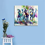 BFY Frameless Huge Wall Art Oil Painting On Canvas Abstract Horse Animal Home Decor