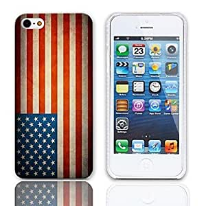 JOE Vintage The Old Glory Design Hard Case with 3-Pack Screen Protectors for iPhone 5/5S