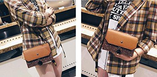 Del Nuevo Las Moda Verano Bolso Bolsa Mujeres Marrón Pequeño Americanas Brown Cuadrado Meaeo Simple El Bolso Europeas Y Estilo 0dRqpCpw