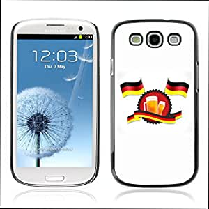 Super Stellar Slim PC Hard Case Cover Skin Armor Shell Portection // V0000617 German Flags And Beer // Samsung Galaxy S3 i9300