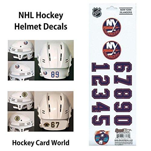 (HCW) New York Islanders SportsStar NHL Hockey Helmet Decals Sticker Sheet