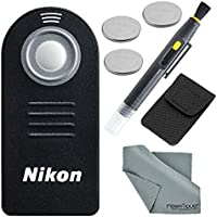 Nikon ML-L3 Wireless Remote Control Bundle with 3 X Spare Battery + 2-in 1 Lens Cleaning Pen + Fibertique Cloth