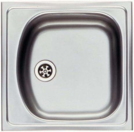 45,5cm x l 43,5cm Profondeur cuve 145mm//Inox//ETX610 Evier Eurostar /à encastrer 1 cuve seul Inox lisse//L