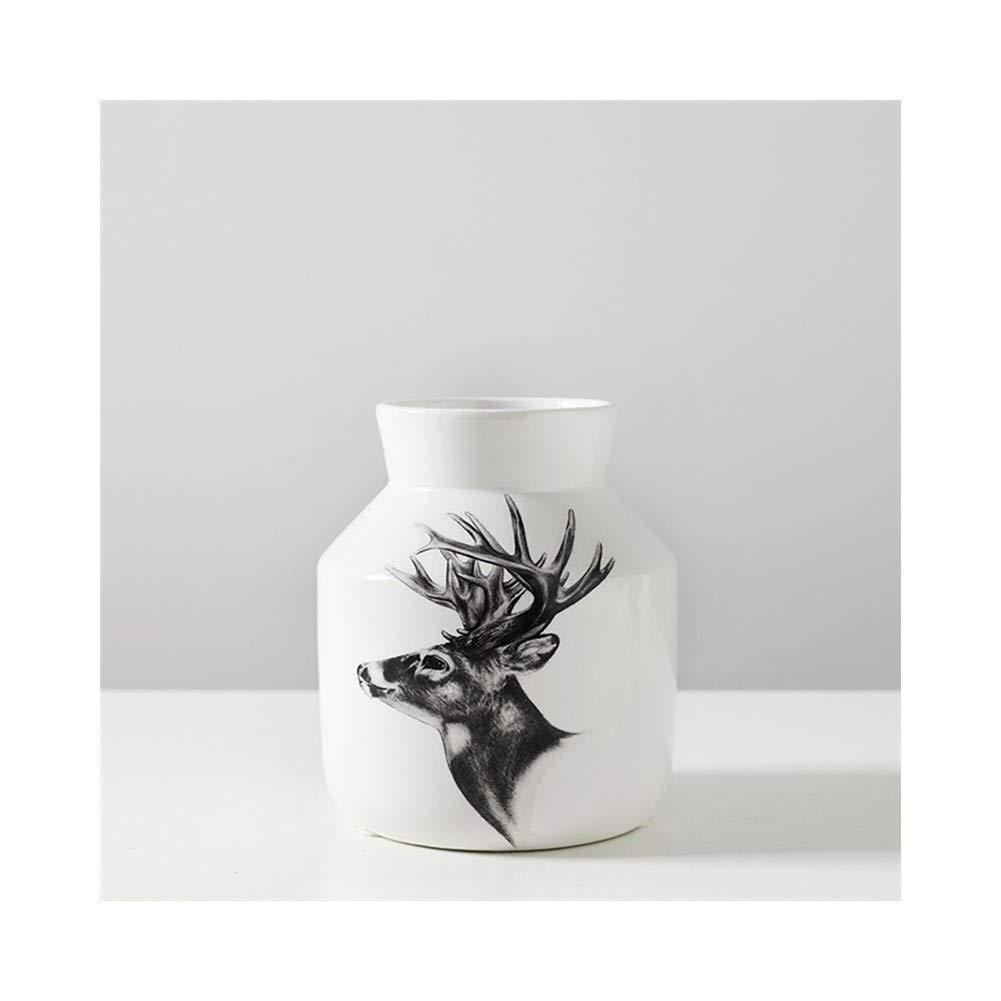 北欧セラミック花瓶装飾シンプルなリビングルーム花瓶テレビキャビネットデスクトップの装飾 (Size : 13cm*16cm) B07STF6QCG  13cm*16cm