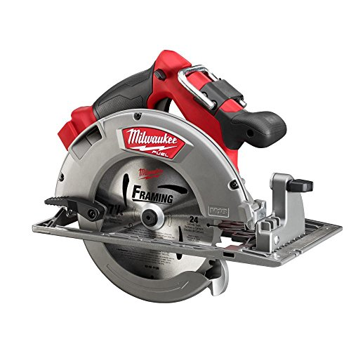 Milwaukee M18 FUEL 18-Volt Lithium Ion Brushless Cordless 7 1/4 in. Circular Saw with M18 18-Volt 9.0Ah Starter Kit   Modern Hardware Power Tools for Your Carpentry Workshop or Machine Shop by Milwaukee (Image #1)