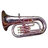 """Queen Brass Euphonium 3 Valves (Tuba) Shinning Brass Bb FLAT""""Queen Brass""""M/P & Bag"""