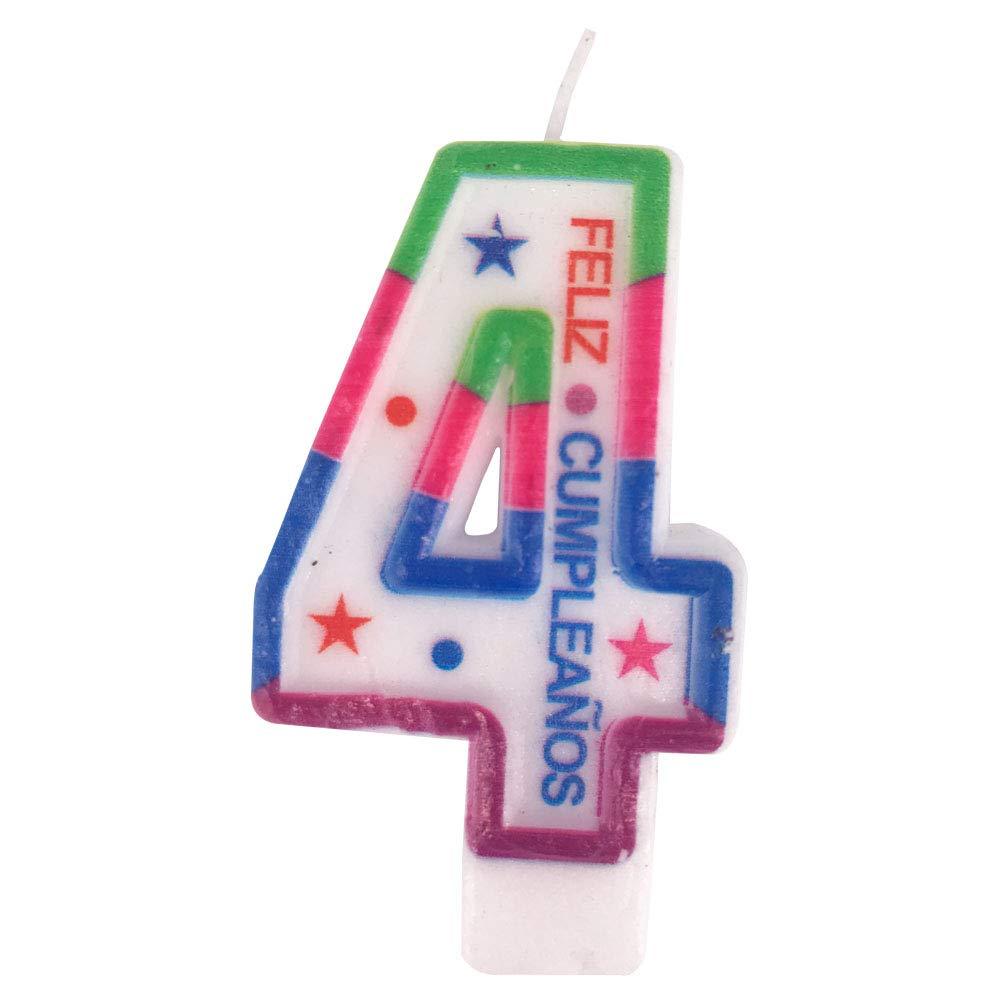Cotigo– Vela de Cumpleaños de Número 4