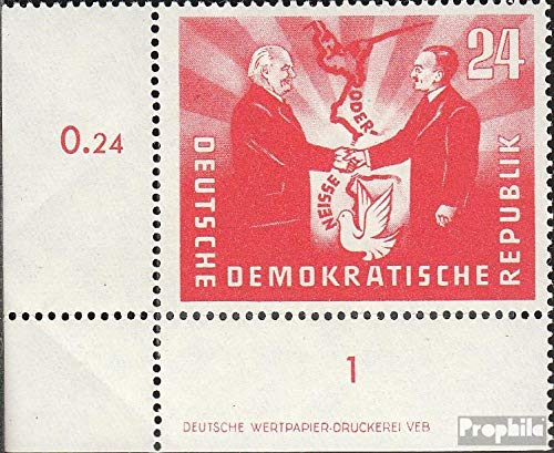 - DDR 284DZ with Printing Signs 1951 German-Polish Friendship (Stamps for Collectors)