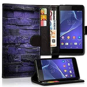 Wallet Wicostar–Funda Case Funda Carcasa con diseño para Samsung Galaxy S5Neo–Diseño Flip mvd53