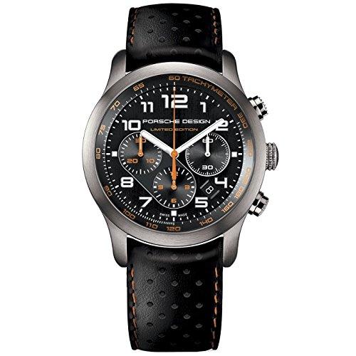 Porsche Design Reloj Multiesfera para Hombre de Cuarzo con Correa en Cuero 6612.11.43.1179: Amazon.es: Relojes