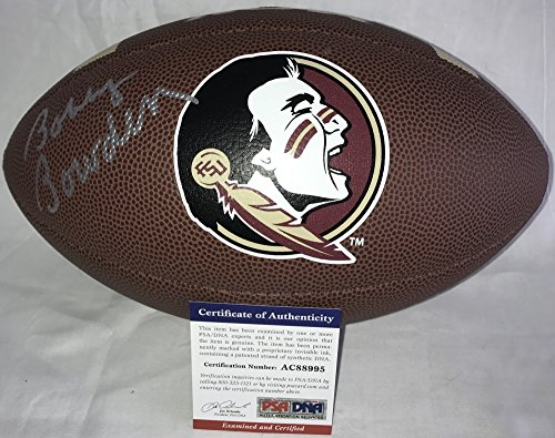 Coach Bobby Bowden Signed / Autographed Florida State Seminoles Logo Football - PSA DNA Certified