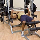 Body-Solid GS348Q Series 7 Smith Machine Gym, Power Rack for Strength and Weight Training